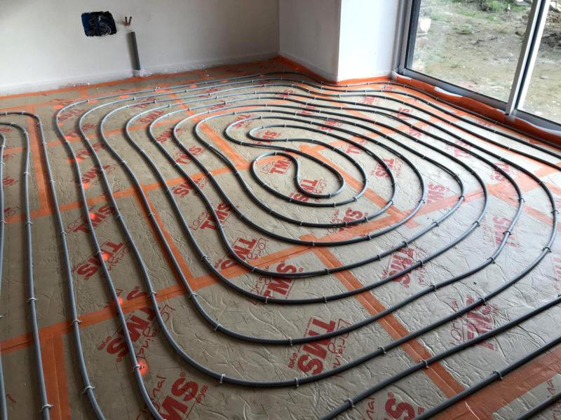 Plancher chauffage au sol